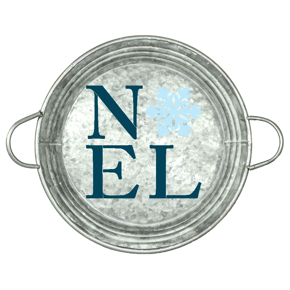 "Noel with Snowflake | Word Art Stencil | by StudioR12 | 14"" Round 