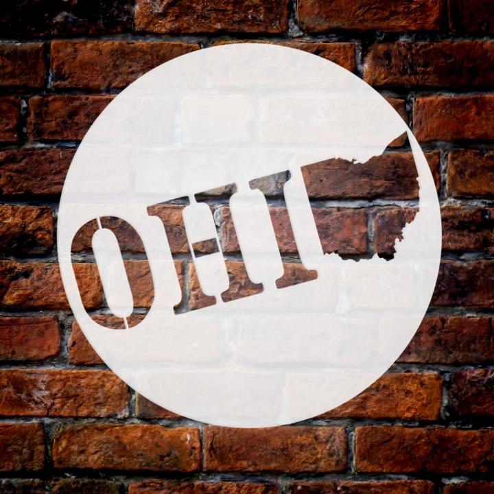 "State of Ohio Stencil    by StudioR12   Reusable Mylar Template   12"" Round   Medium"