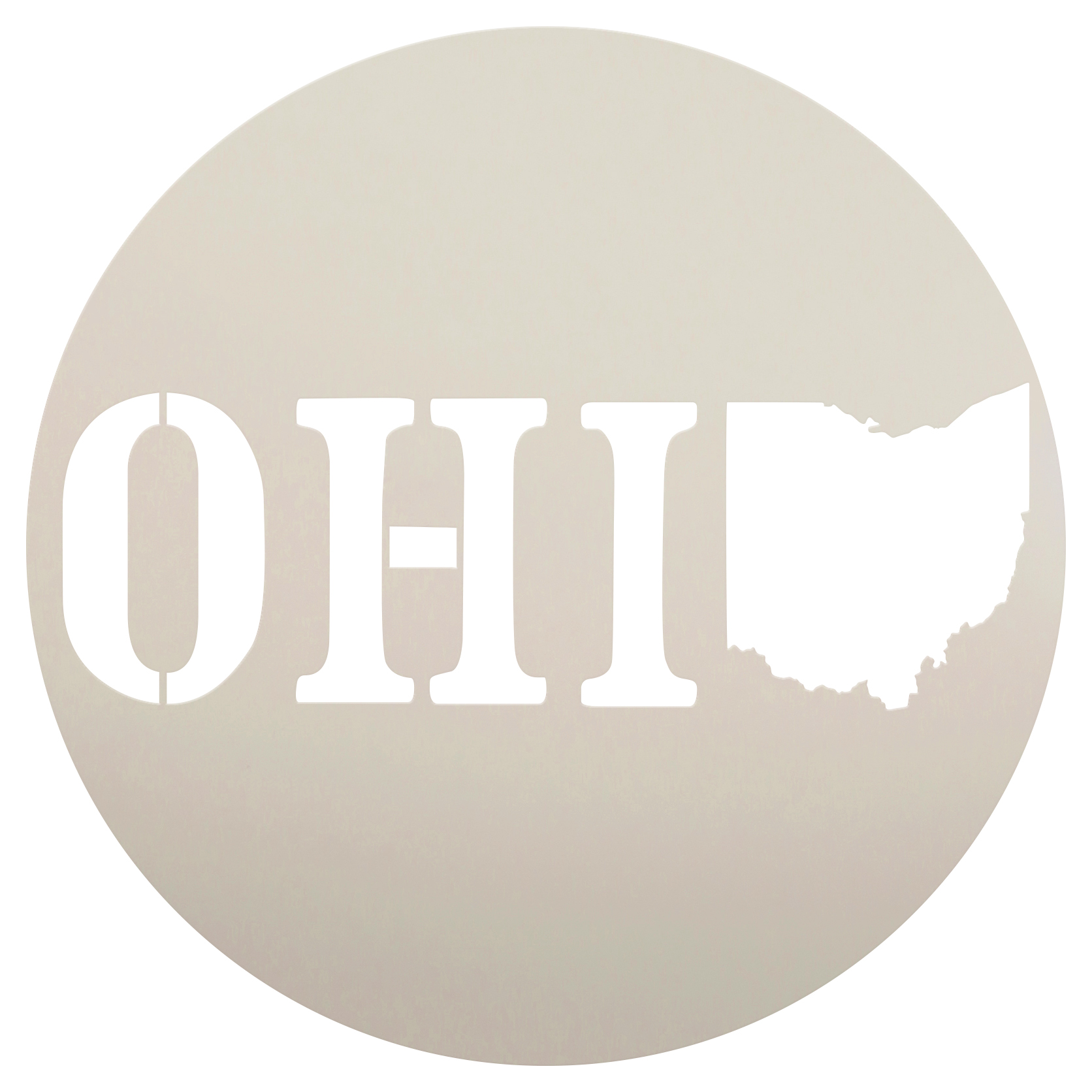 "State of Ohio Stencil |  by StudioR12 | Reusable Mylar Template | 12"" Round 