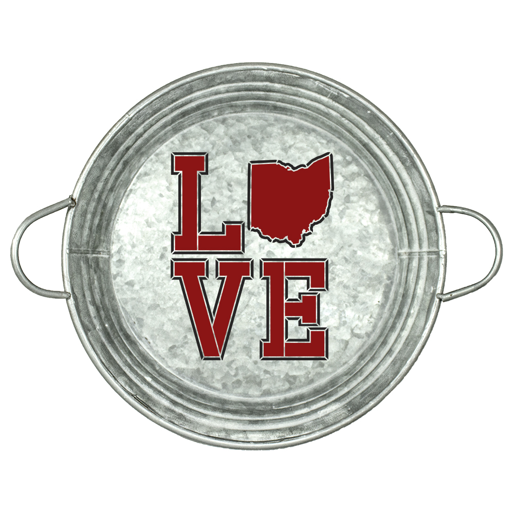 "Personalized Stencil | State | Love | Varsity Style | 12"" Round 