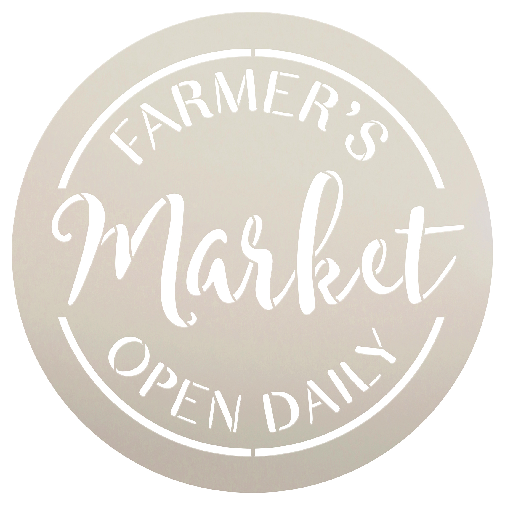 """Farmer's Market Open Daily Stencil by StudioR12 