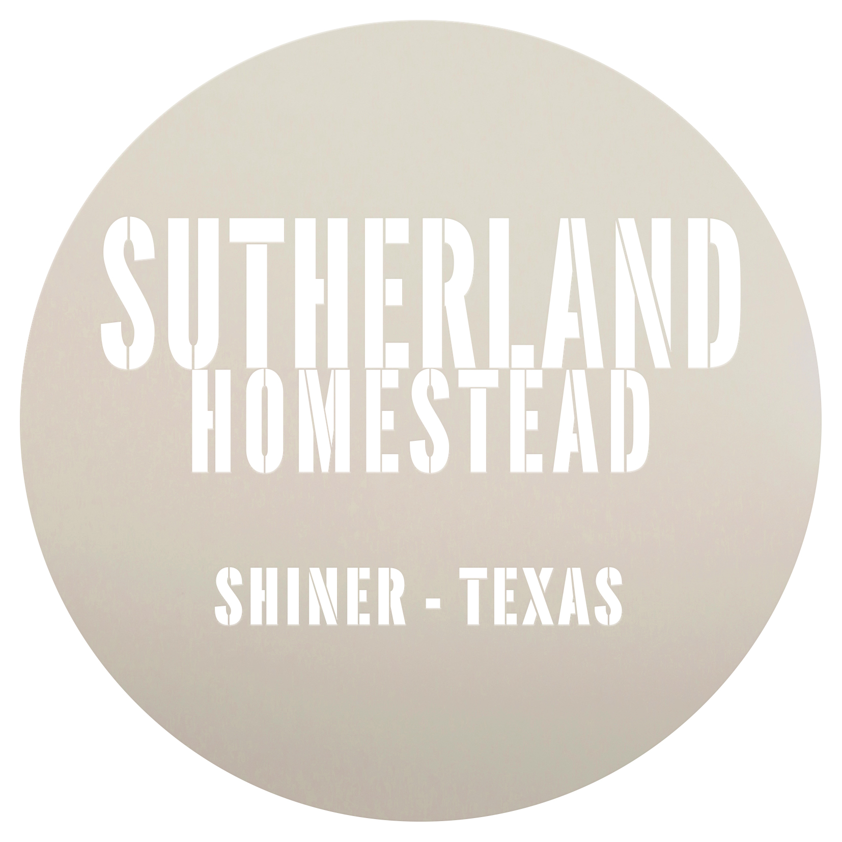 "Personalized Stencil | Homestead | Family Name | City | State | 14"" Round 