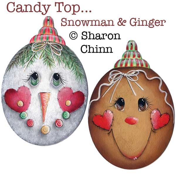 Candy Top Snowman & Ginger - E-Packet - Sharon Chinn