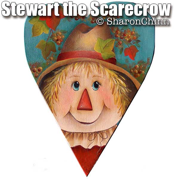 Stewart the Scarecrow Primitive Heart - E-Packet - Sharon Chinn