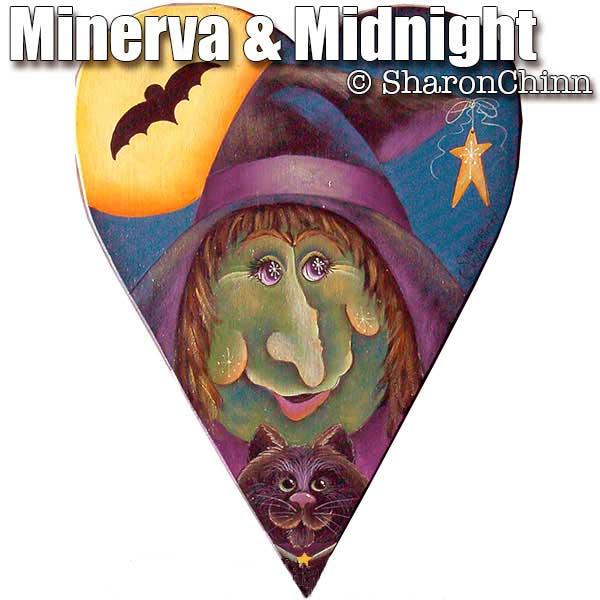 Minerva & Midnight Primitive Heart - E-Packet - Sharon Chinn