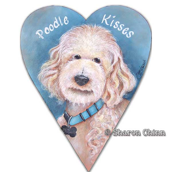 Poodle Kisses Primitive Heart - E-Packet - Sharon Chinn