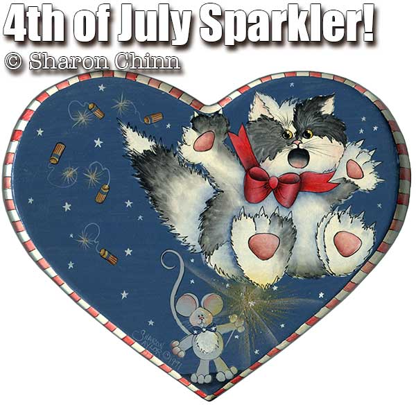 Holiday Heart - 4th of July Sparkler - E-Packet - Sharon Chinn