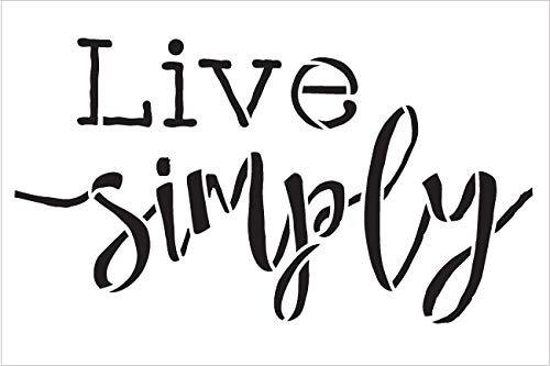 Live Simple Stencil by StudioR12 | Reusable Mylar Template | Use to Paint Wood Signs - Pallets - Walls - Pillows - DIY Simple Life Decor