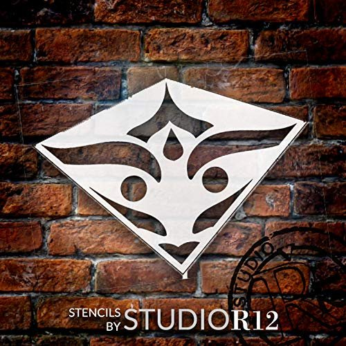 Mandala - Spades - Quarter Design Stencil by StudioR12 | Reusable Mylar Template | Use to Paint Wood Signs - Pallets - Pillows - Wall Art - Floor Tile -
