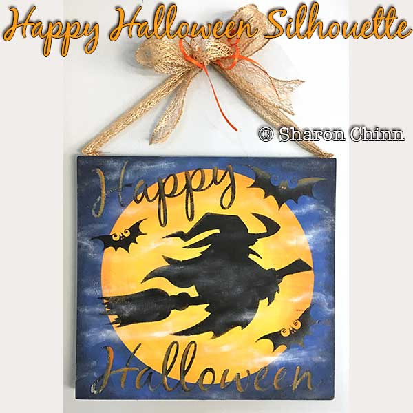 Happy Halloween Silhouette - E-Packet - Sharon Chinn