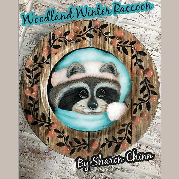 Woodland Winter Raccoon - E-Packet - Sharon Chinn