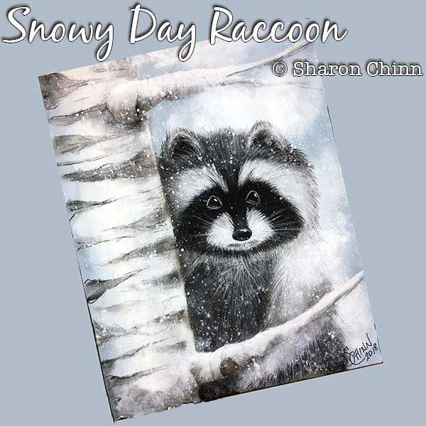 Snowy Day Raccoon - E-Packet - Sharon Chinn