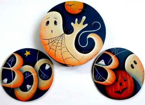Boo to You Coaster Set - E-Packet - Susan Cochrane