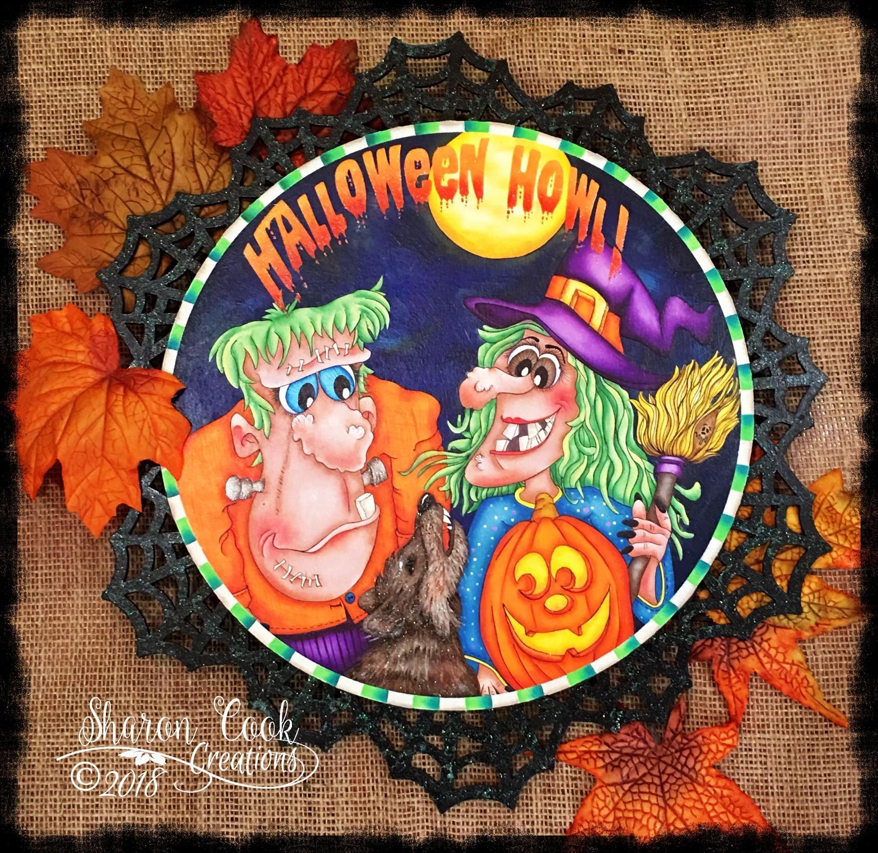Halloween Howl Lazy Susan - E-Packet - Sharon Cook