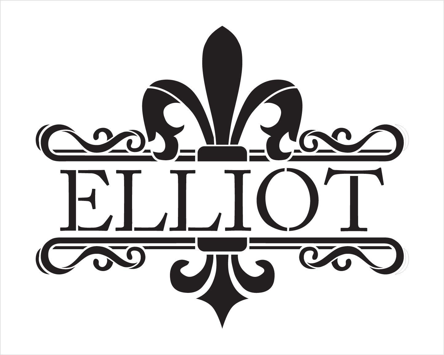 Personalized Fleur de lis Family Stencil | Custom Last Name | DIY Rustic Country Home Decor | French Farmhouse Entryway Word Art | Craft & Paint Wood Signs | Reusable Mylar Template | Select Size