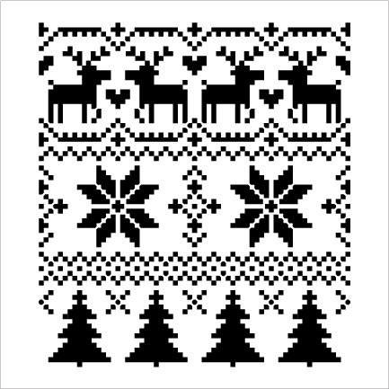 Christmas Sweater Pattern Stencil by StudioR12 | DIY Christmas | Apron Pillows | Seasonal Gift | Craft Winter Home Decor | Reusable Mylar Template | Paint Wood Sign - Select Size
