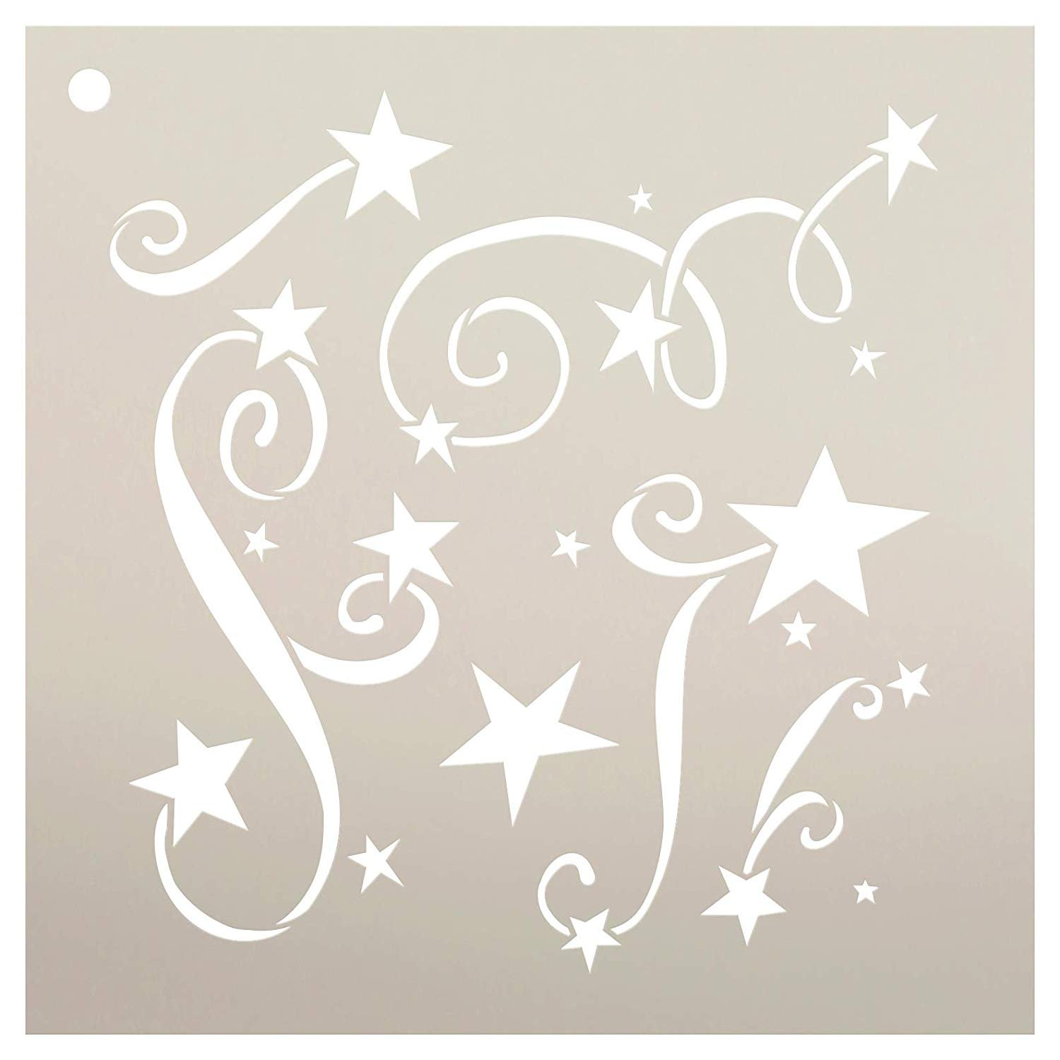 Holiday Stars Pattern Stencil by StudioR12 | DIY Christmas | Night Sky | Seasonal Gift | Craft Home Decor | Reusable Mylar Template | Paint Wood Sign - Select Size