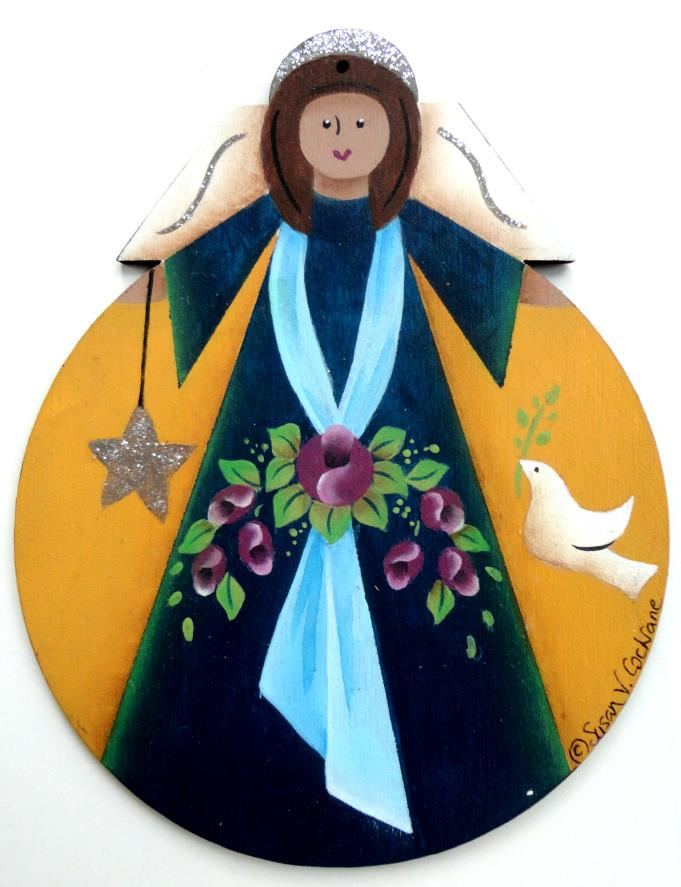 Peace Angel Greeting Cards & Ornaments- E-Packet - Susan Cochrane