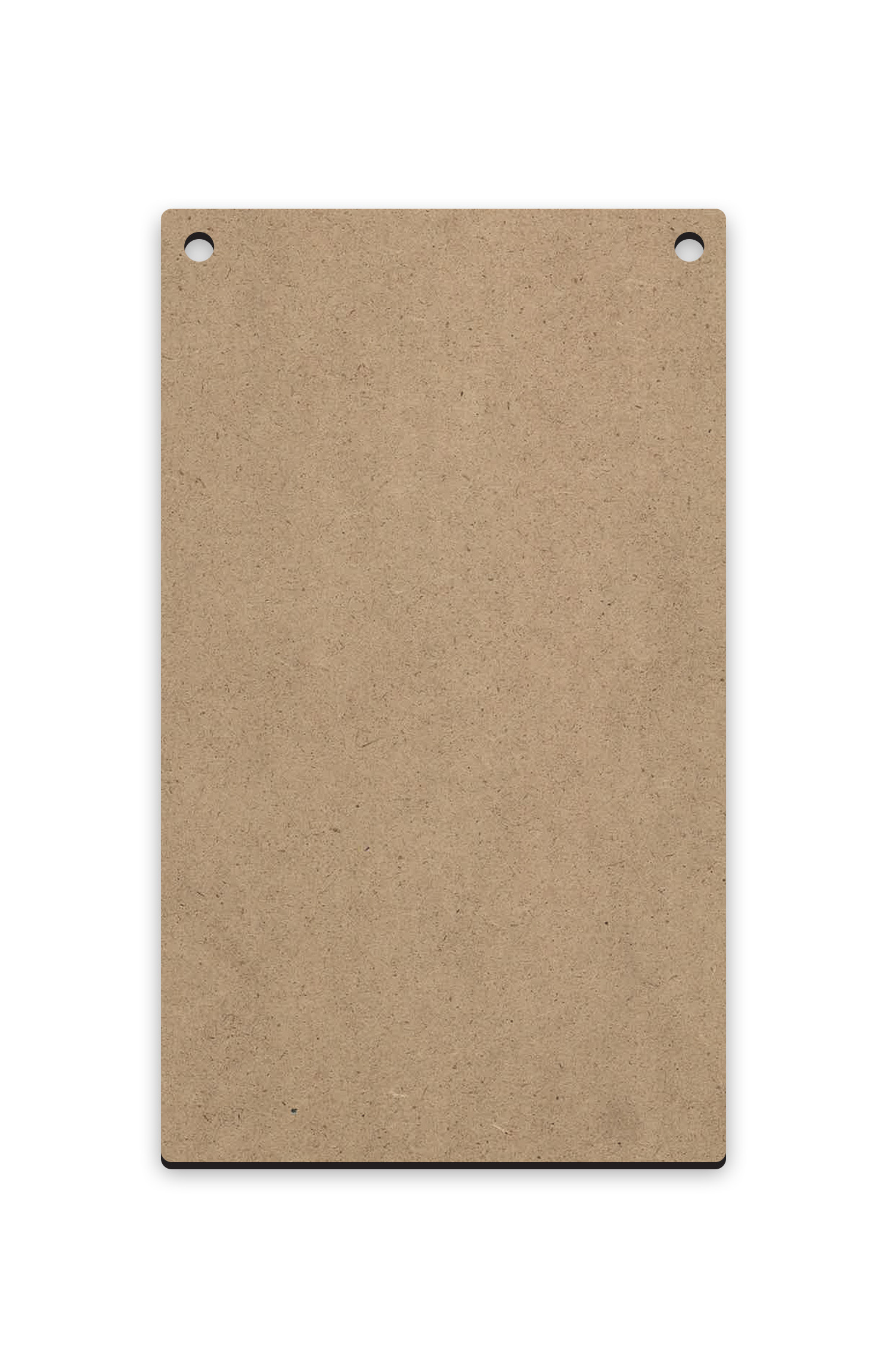 "Long Vertical Rectangle | Ornament Wood Mini Surface #15 | Size 2.6"" x 4.5"""