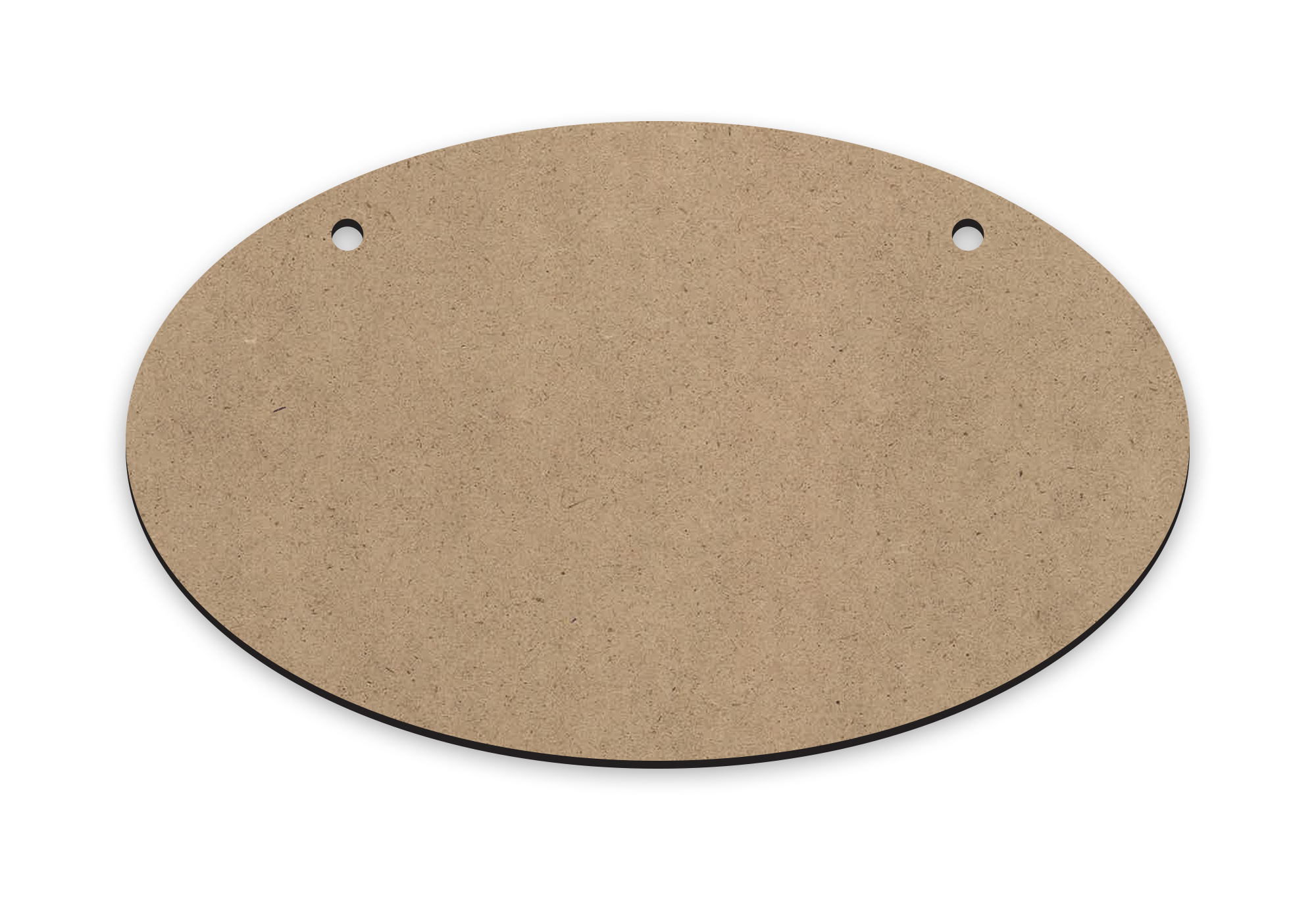 "Horizontal Oval | Ornament Wood Mini Surface #17 | Size 5"" x 3"""