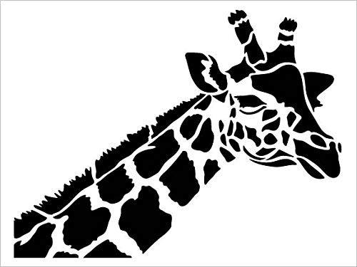Giraffe Portrait Stencil by StudioR12   DIY Zoo Animals   Family School Nursery Play Room   Creativity Fun Kids Gift Craft Educational Home Decor   Reusable Mylar Template Paint Wood Sign