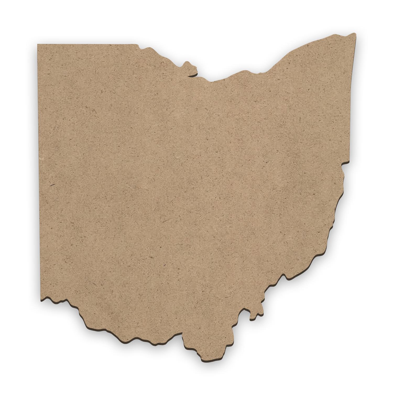"""Ohio State Shape    Mini Wood Surface #5   Size 4"""""""
