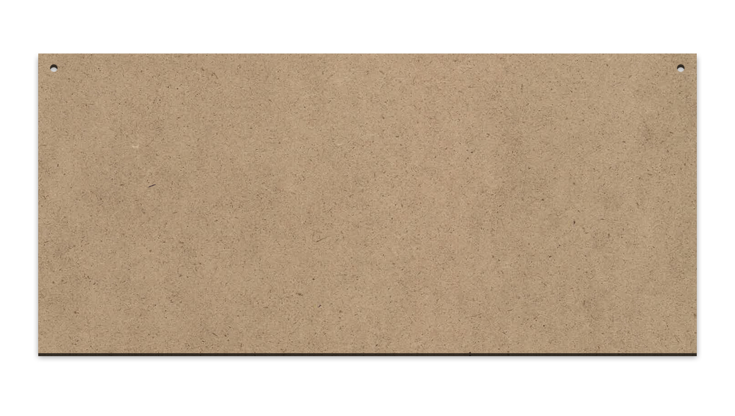 """Horizontal Rectangle Sign with Hang Holes 