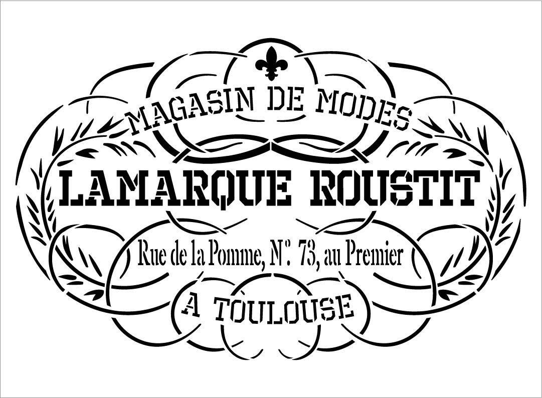 Antique French Fleur de lis Stencil by StudioR12 | DIY Old Ephemera Home Decor & Furniture | Embellished Art | Craft & Paint Vintage Wood Signs | Reusable Mylar Template | Size (15 x 11 inch)