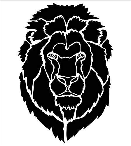 Lion Portrait Stencil by StudioR12 | Zoo Animals | DIY Creativity Fun Kids Gift | Nature School Home Decor | Family School Nursery Play Room Craft | Reusable Mylar Template Paint Wood Sign