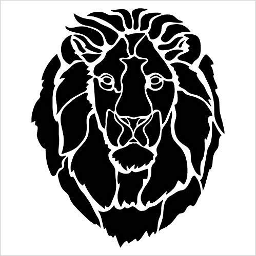 Lion Portrait Stencil by StudioR12 | Zoo Animals | DIY Creativity Fun Kids Gift | Family School Nursery Play Room Craft | Cute School Home Decor | Reusable Mylar Template Paint Wood Sign