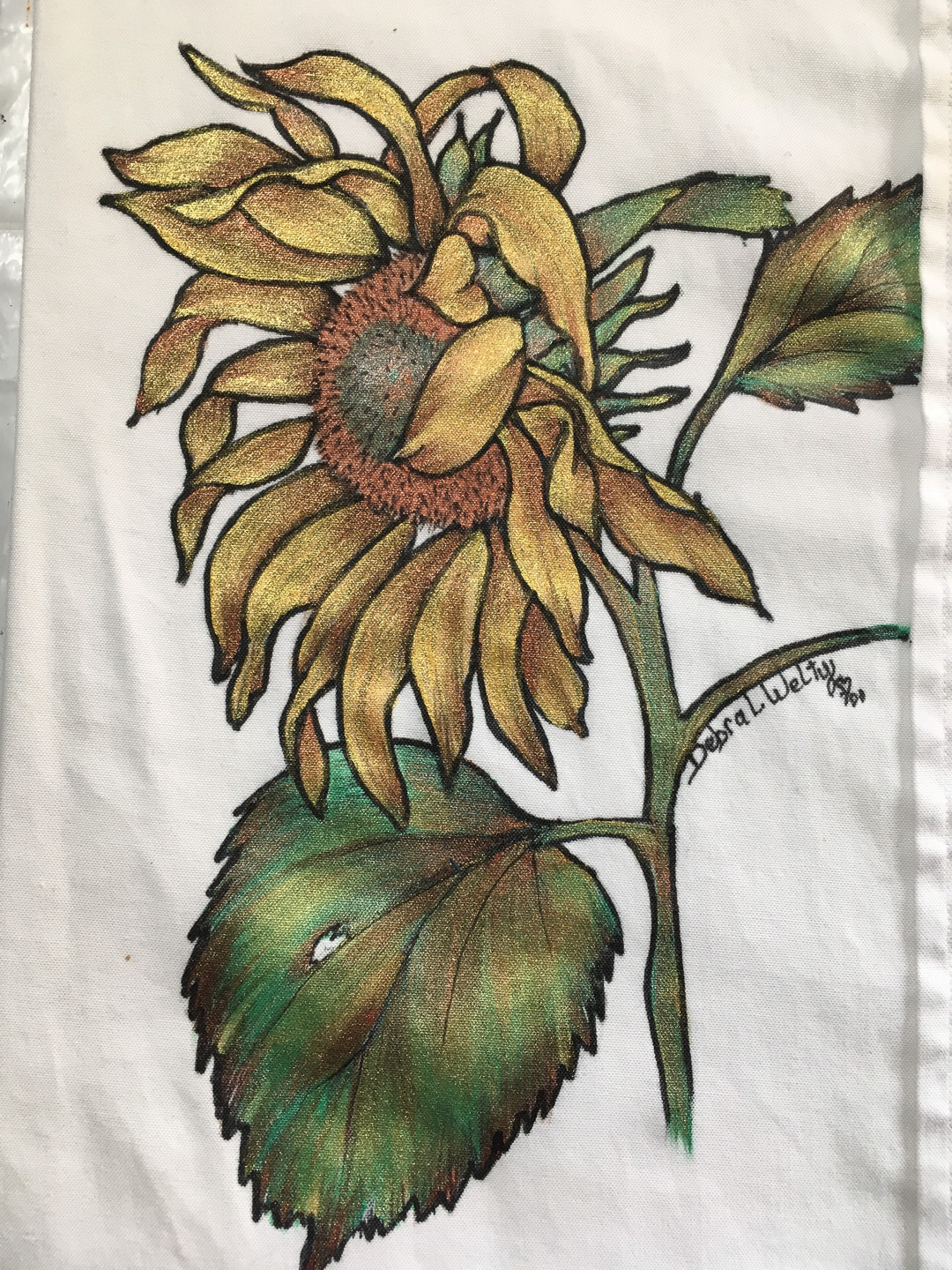 Pen and Ink Sunflower - E-Packet - Debra Welty