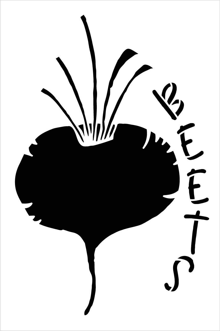 Beets Garden Marker Stencil by StudioR12 | DIY Spring Backyard Outdoor Home Decor | Vegetable Plant Label | Craft & Paint Rustic Wood Signs | Reusable Mylar Template | Select Size