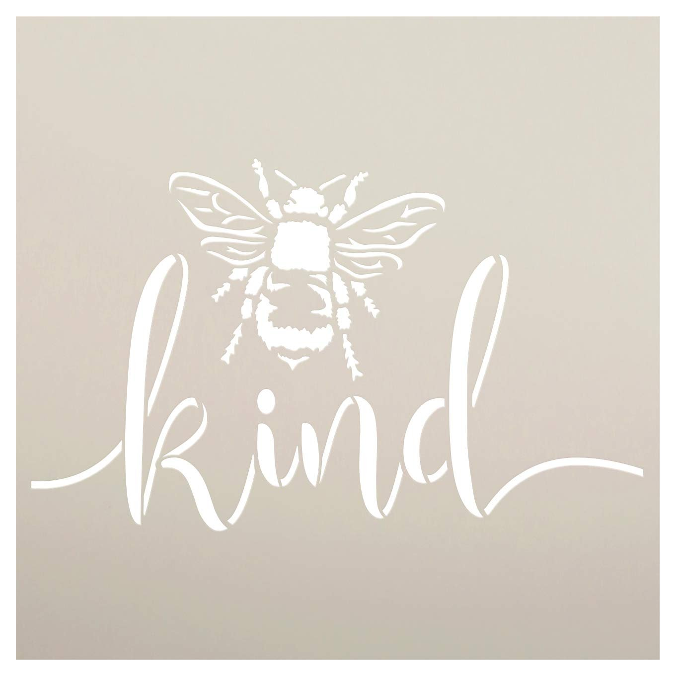 Bee Kind Stencil By Studior12 Diy Farmhouse Bumblebee Home Classroom Decor Spring Script Inspirational Word Art Craft Paint Wood Signs Reusable Mylar Template Select Size Creative Arts Lifestyle