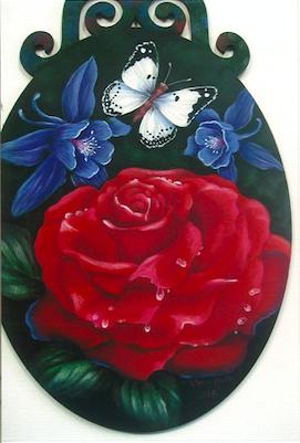 Red, White & Blue Floral - E-Packet - Karen Hubbard