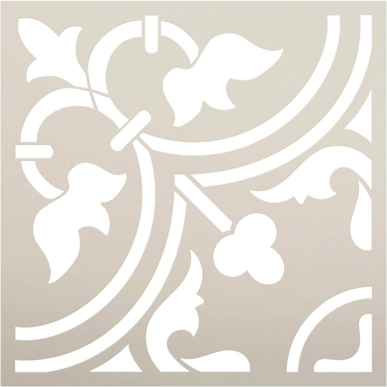 Moroccan Pattern Tile Stencil by StudioR12   DIY Furniture & Floor Painting for Kitchen or Bathroom   Reusable Template   Select Size