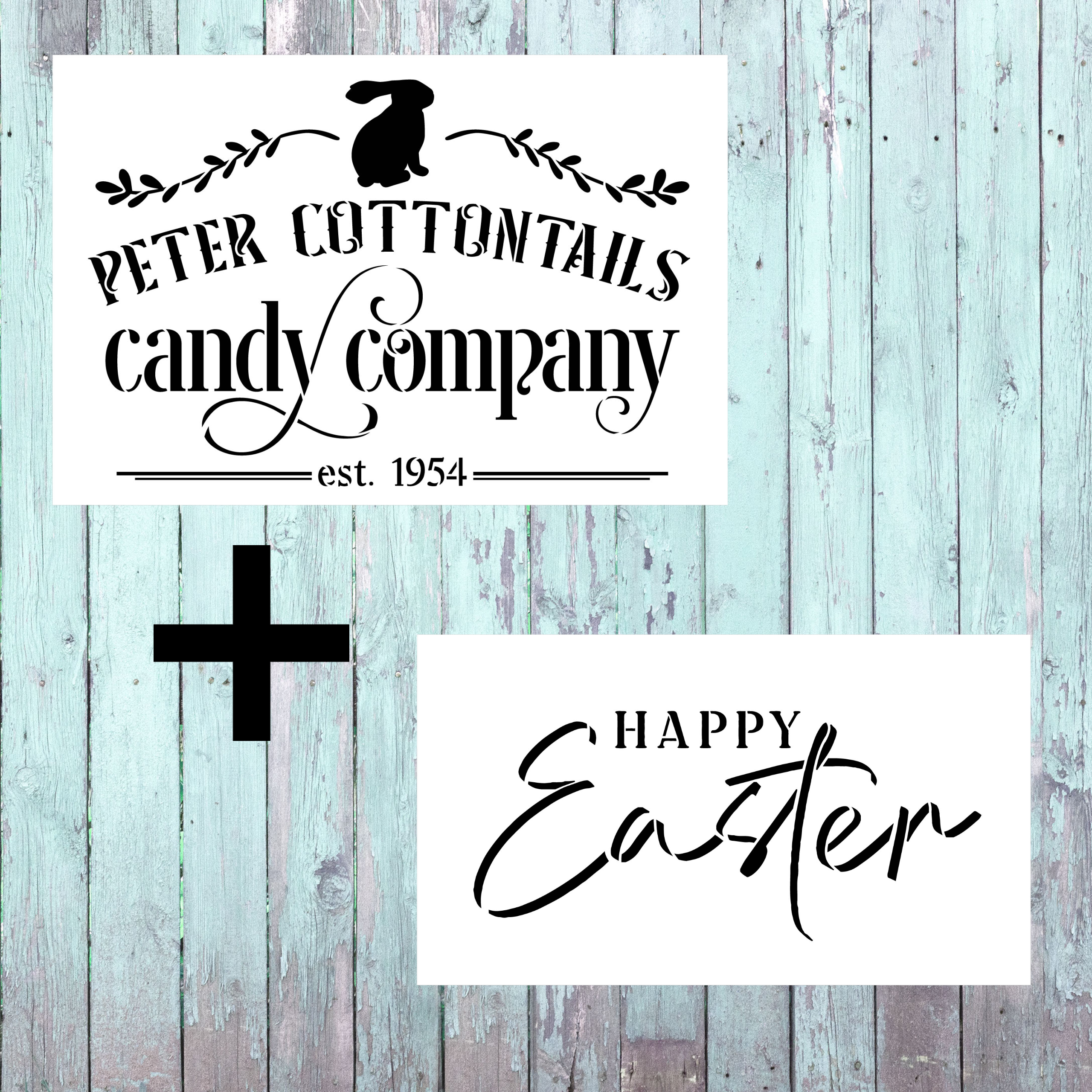 Happy Easter - 2 Stencil Set - CMBN478