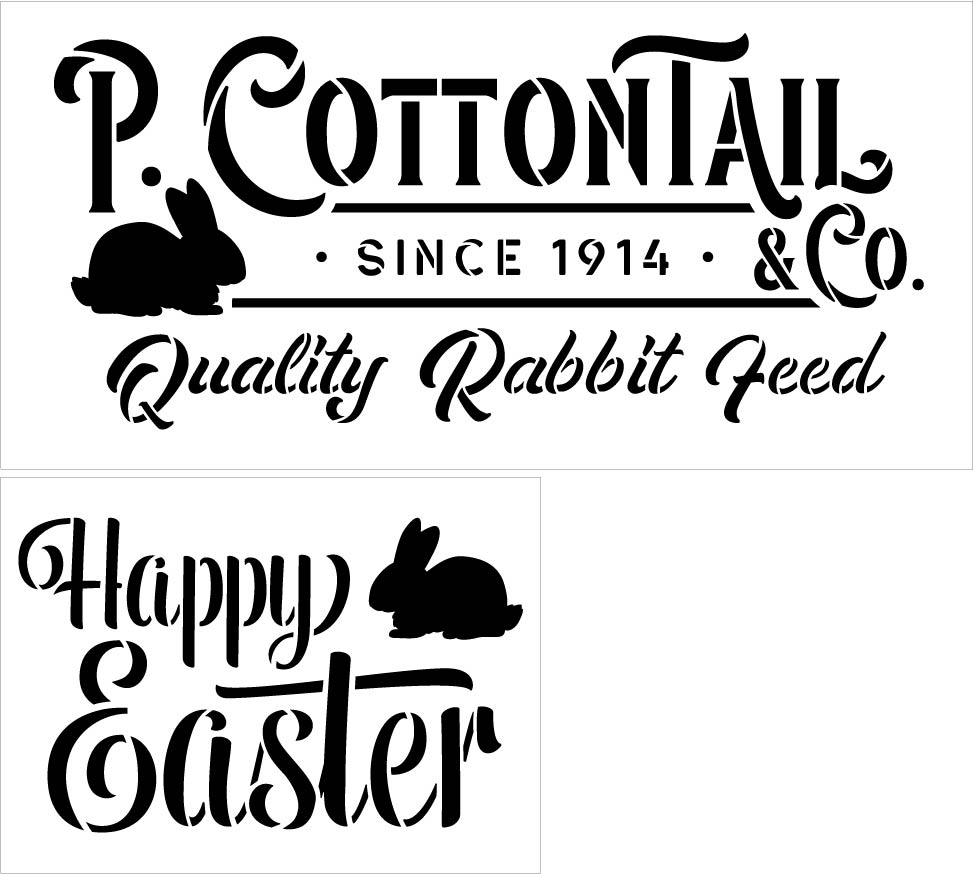 Easter Bunny - 2 Stencil Set - CMBN479
