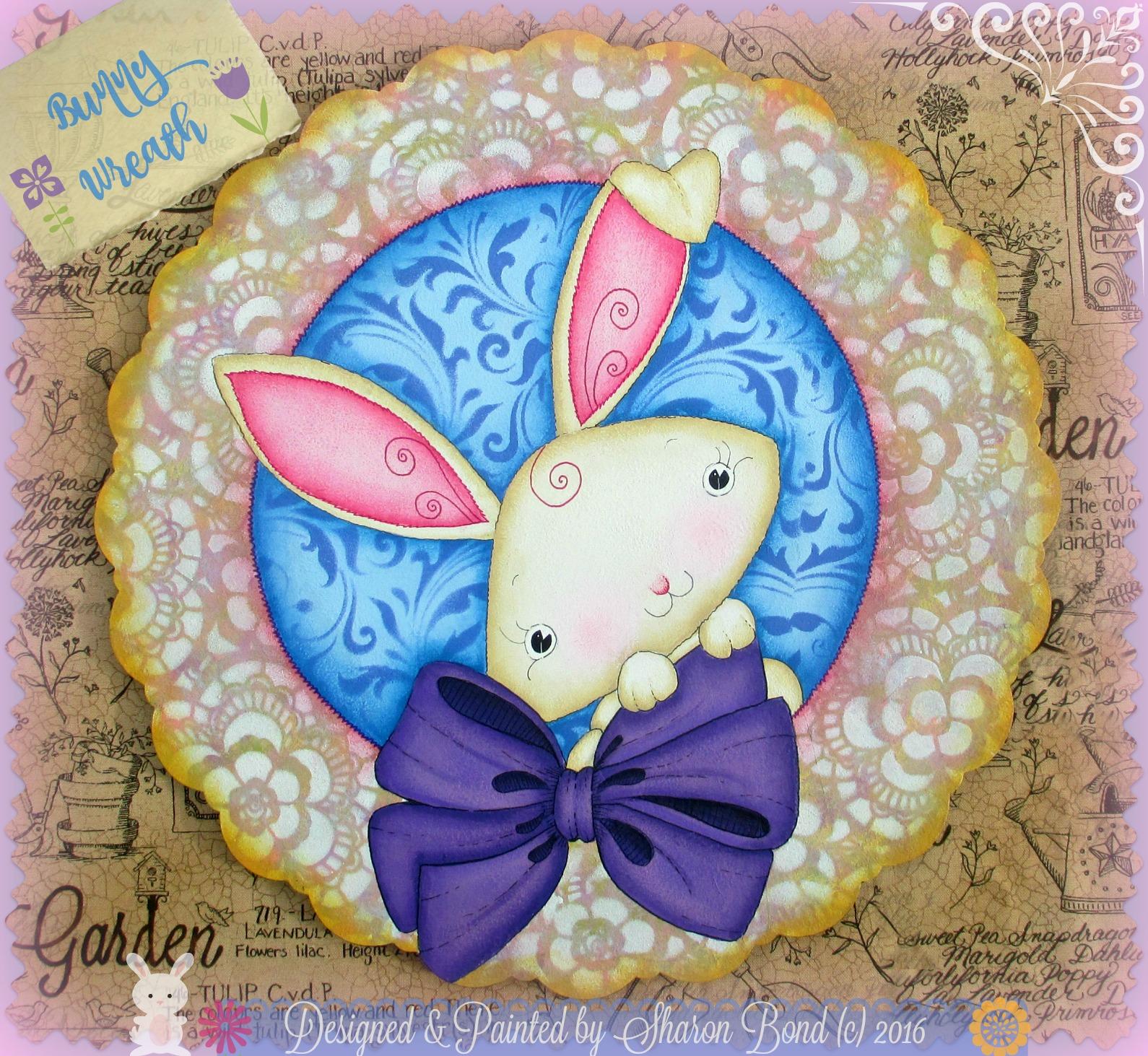 Bunny Wreath - E-Packet - Sharon Bond