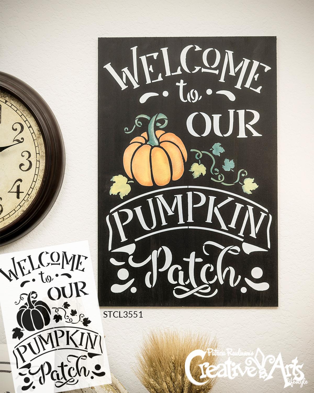Harvest Fall Autumn Leaves Heart DIY Art Project Paint Reusable Stencil