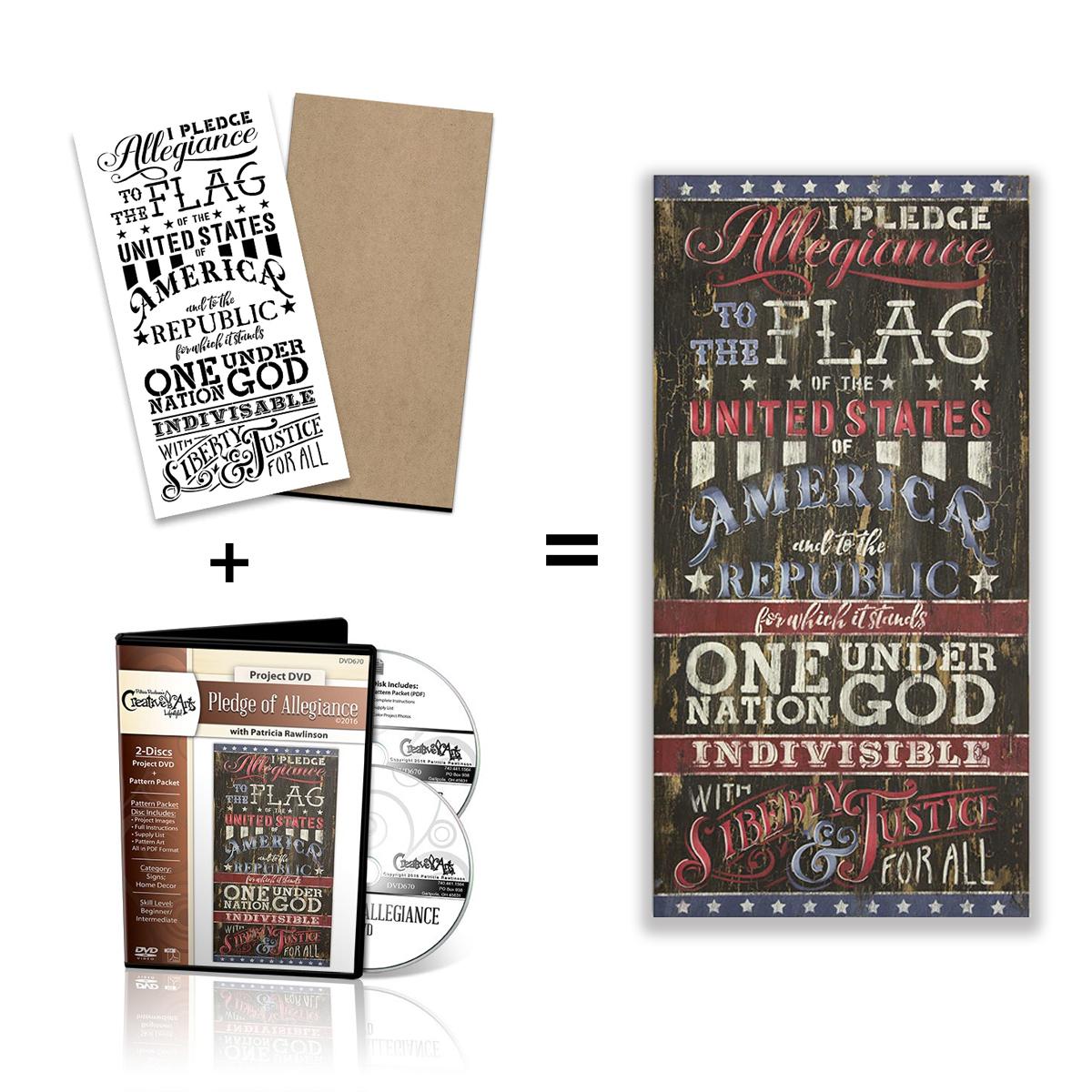 Pledge of Allegiance Stencil + Surface + DVD