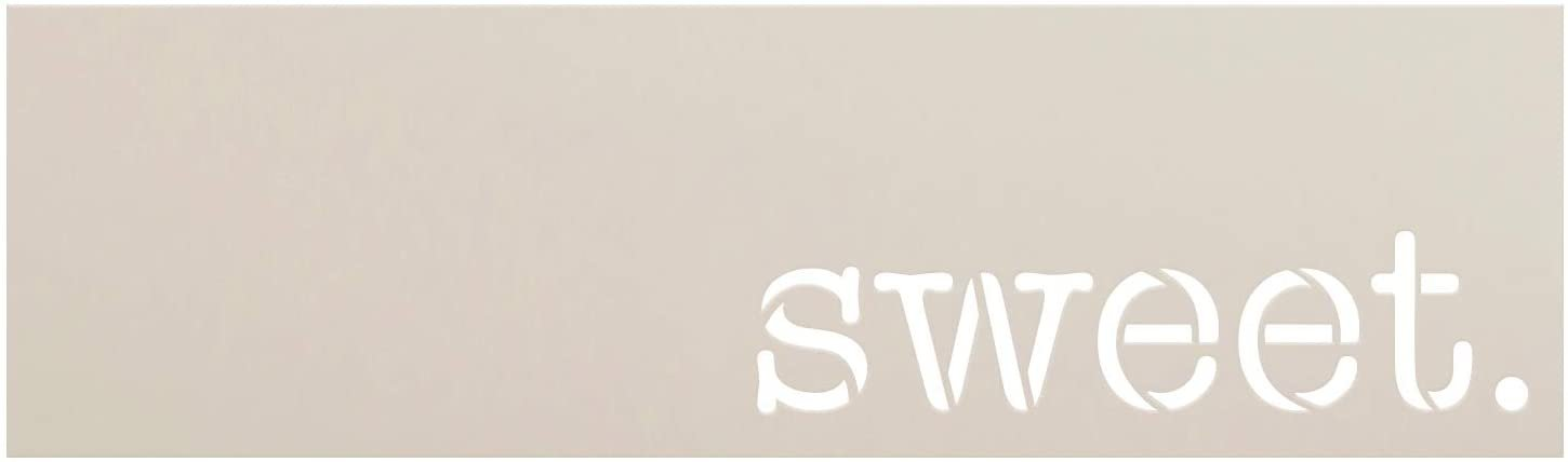 Sweet Word Stencil by StudioR12 | DIY Inspiration Quote Family Home Decor Gift | Craft & Paint Wood Sign | Reusable Mylar Template | Select Size