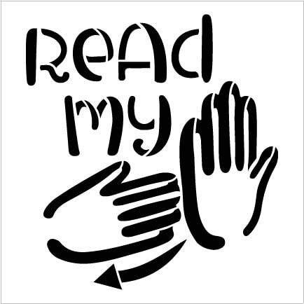 Read My Hands Stencil by StudioR12   DIY ASL American Sign Language Home Decor Gift   Craft & Paint Wood Sign   Reusable Mylar Template   Select Size