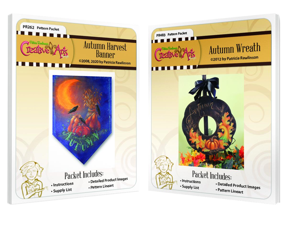 Autumn Harvest Wreath (PR262) & Autumn Wreath (PR483) Pattern Packet COMBO BONUS!