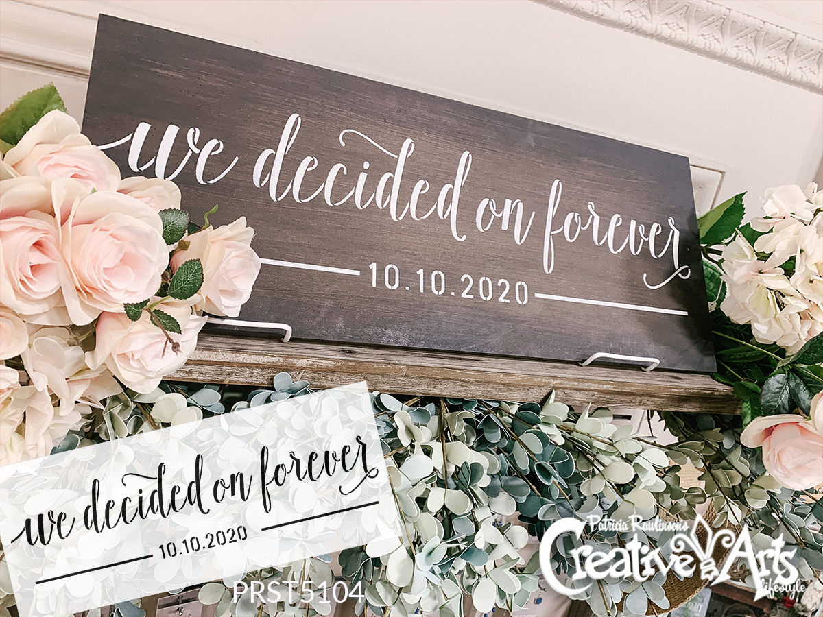 We Decided on Forever Stencil Personalized Date by StudioR12   DIY Home Decor   Craft & Paint Wood Sign   Reusable Mylar Template   (27 x 11 INCHES)