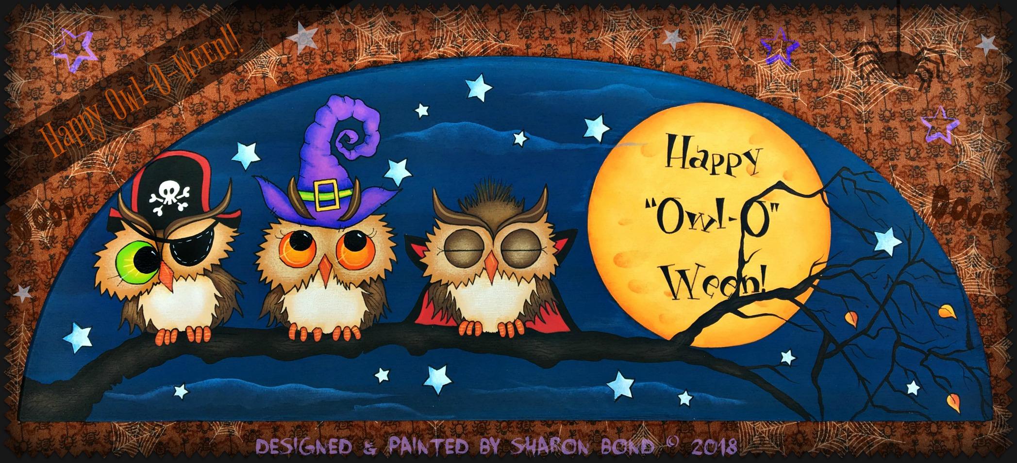 "Happy ""Owl-O"" Ween! - E-Packet - Sharon Bond"