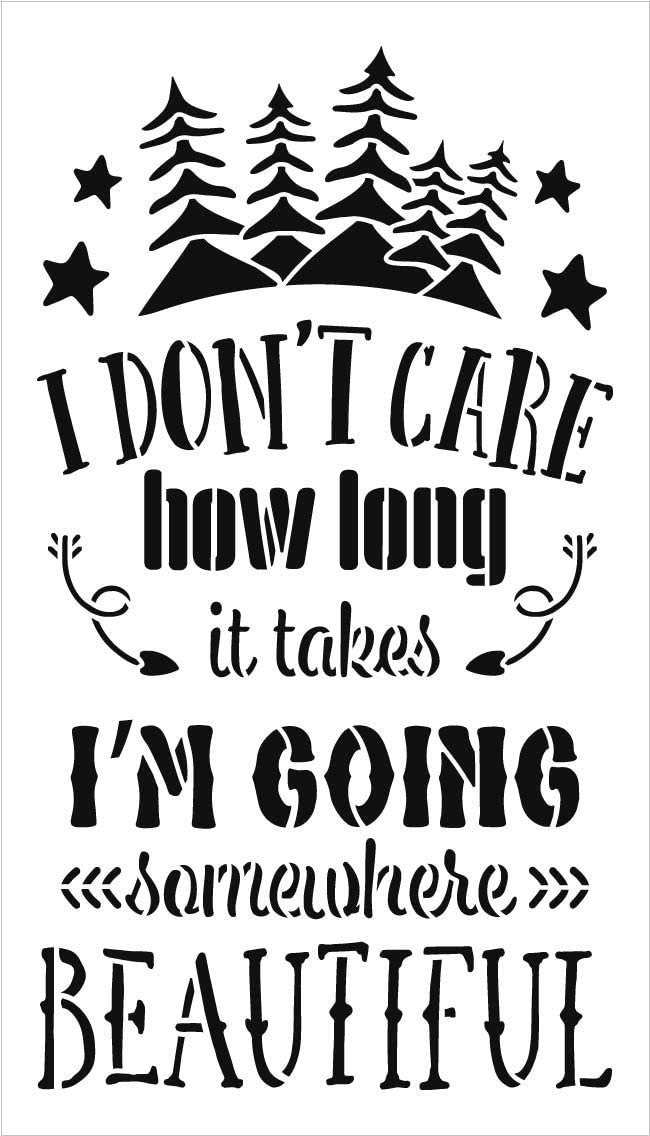 I'm Going Somewhere Beautiful Stencil by StudioR12 | DIY Camper Homer Decor | Travel Word Art | Paint Wood Signs | Select Size