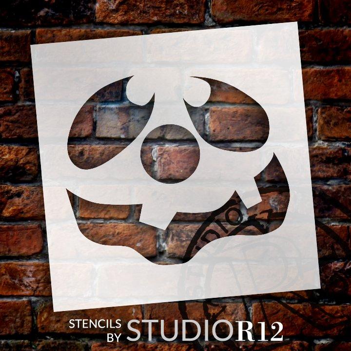 Silly Jack-O-Lantern Stencil by StudioR12 | Craft & Paint DIY Halloween Decor | Fall Pumpkin Face Pattern Template | Select Size