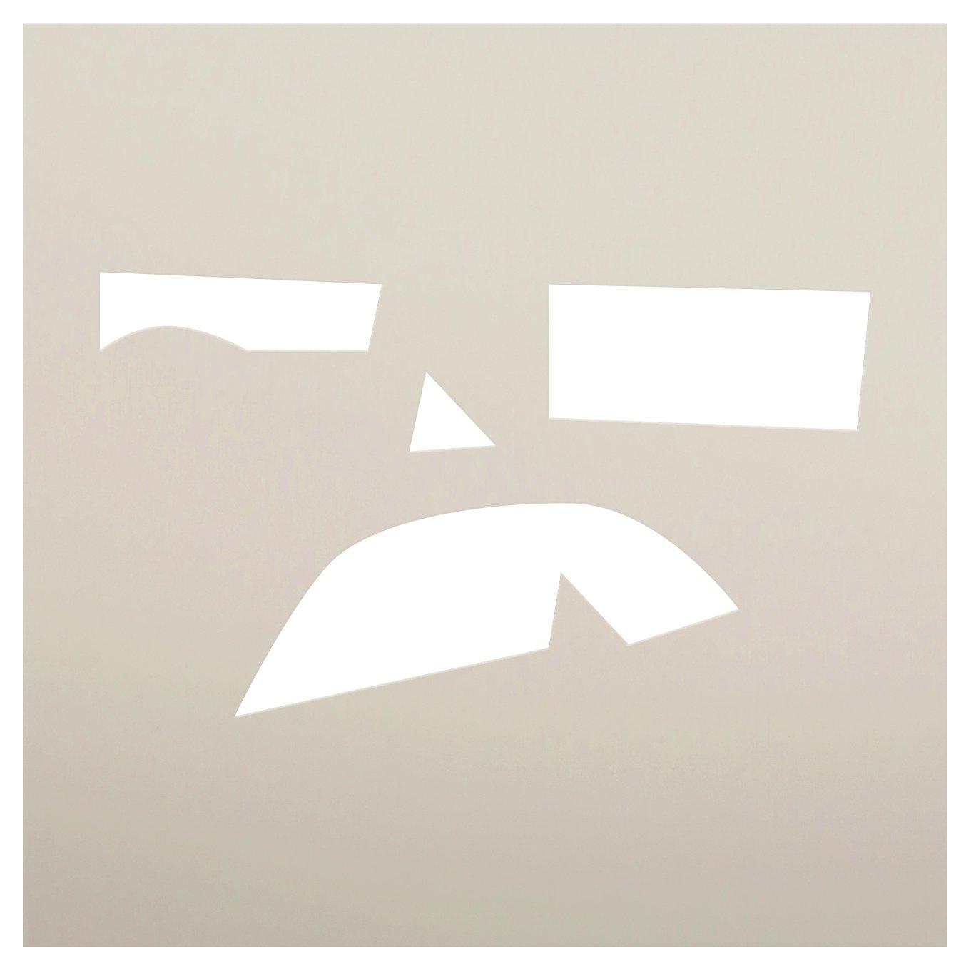 Monster Jack-O-Lantern Stencil by StudioR12 | Craft & Paint DIY Halloween Decor | Fall Pumpkin Face Pattern Template | Select Size