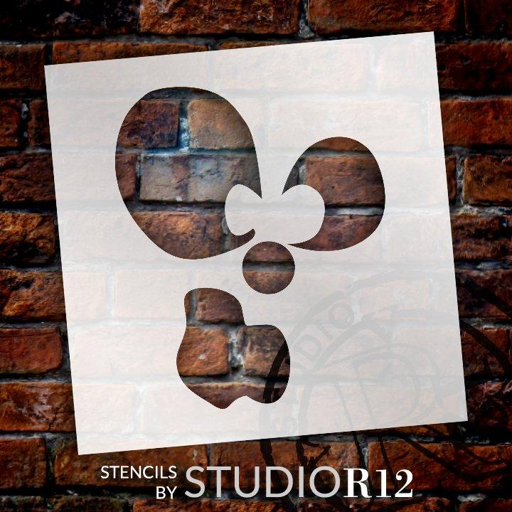 Odd Jack-O-Lantern Stencil by StudioR12 | Craft & Paint DIY Halloween Decor | Fall Pumpkin Face Pattern Template | Select Size