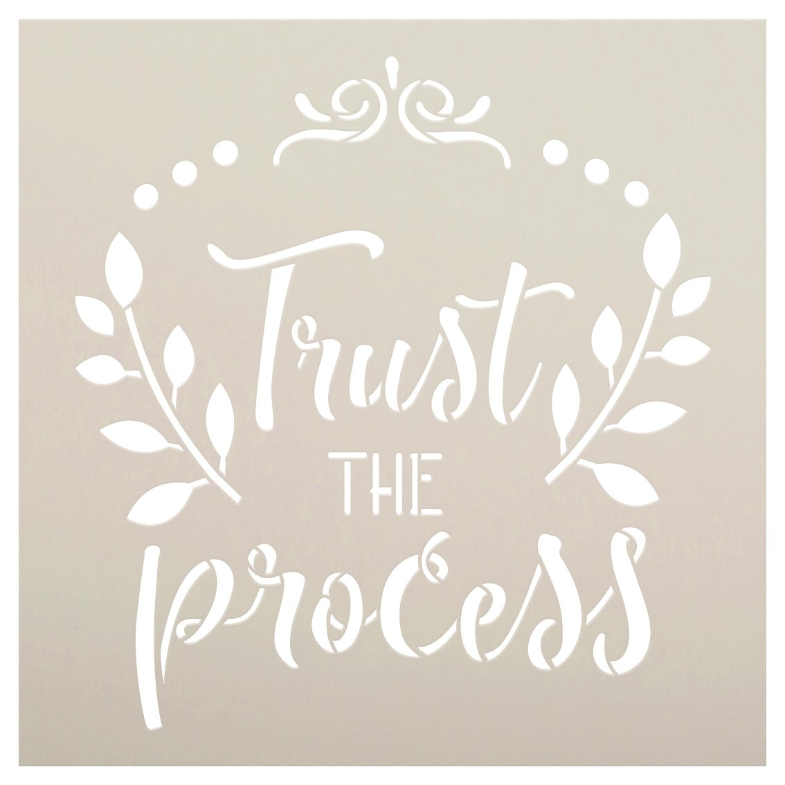 Trust The Process Script Stencil by StudioR12   DIY Inspirational Home Decor   Craft & Paint Farmhouse Wood Signs   Select Size